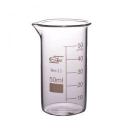 [2142] Zlewka szklana wysoka z wylewem 50 ml - 1 szt Pozostałe