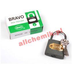 Kłódka żeliwna BRAVO 38 mm + 3 klucze Nieskategoryzowane