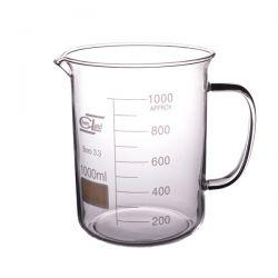 [2310] Zlewka szklana niska z uchem 1000 ml - 1 szt Nieskategoryzowane