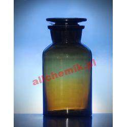 [2366] Butelka szklana oranż z korkiem szeroka szyja 100 ml - 1 szt Nieskategoryzowane