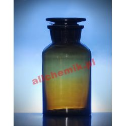 [2473] Butelka szklana oranż z korkiem szeroka szyja 50 ml - 1 szt Nieskategoryzowane