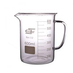 [2459] Zlewka szklana niska z uchem 600 ml - 1 szt Nieskategoryzowane
