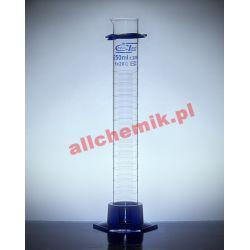 [0811] Cylinder miarowy szklany, kl B stopa PP 50 ml - 1 szt Pozostałe