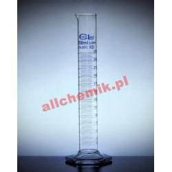 [2183] Cylinder miarowy szklany, stopa szklana sześciokątna - 50 ml Laboratorium