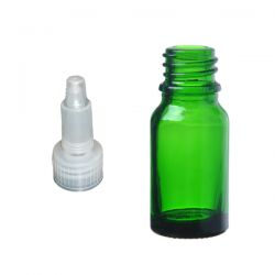Butelka szklana zielona z zakraplaczem 10 ml  Laboratorium