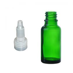 Butelka szklana zielona z zakraplaczem 50 ml Pozostałe