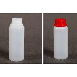 Butelka HDPE z nakrętką z plombą 100 ml - 100 szt
