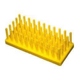 [0727] Statyw do probówek - jeż żółty, średnica miejsc 17-20 mm