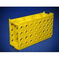 [1457] Multi statyw na probówki mały - żółty, 4 wymiary probówek
