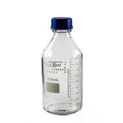 [0600] Butelka z niebieską nakrętką gwint GL 45 - 1000 ml Wyposażenie szpitali i gabinetów
