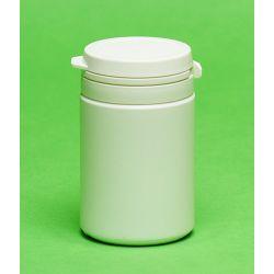 [1227] Pojemnik apteczny HDPE, wieczko ze zrywką 75 ml - 10 szt Nieskategoryzowane