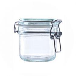 [3213] Słoik szklany kosmetyczny z klipsem 250 ml - 1 szt Nieskategoryzowane