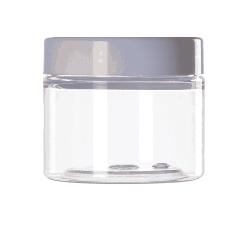 [3214] Słoik kosmetyczny PET z nakrętką 100 ml - 1 szt Nieskategoryzowane