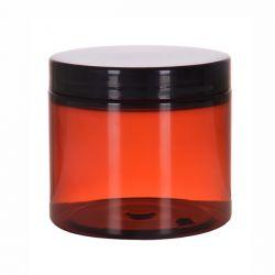 [3215] Słoik kosmetyczny PET brązowy z nakrętką 200 ml - 50 szt Nieskategoryzowane