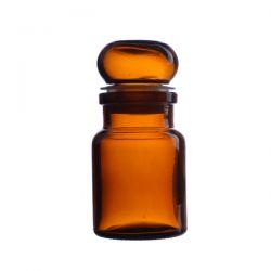 Słoik apteczny oranżowy ze szklanym korkiem 50 ml Pozostałe