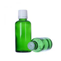 [6022] Butelka szklana zielona z kroplomierzem i nakrętką z plombą 30 ml - 5 szt Zdrowie i Uroda