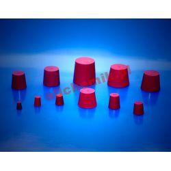 Korek gumowy czerwony, guma naturalna 21x27x30 - 1 szt Pozostałe