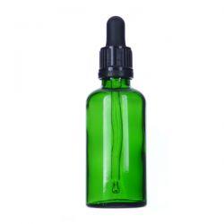 Butelka szklana zielona ze szklaną pipetą i nakrętką z plombą 30 ml, 1 szt Zdrowie i Uroda