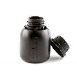 Butelka HDPE czarna 100 ml, nakrętka z plombą Zdrowie i Uroda