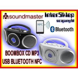 *BOOMBOX KOMBAJN RADIO CD MP3 2x USB BLUETOOTH NFC