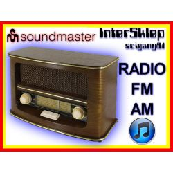 STYLOWE RADIO RETRO DREWNIANE FM AM
