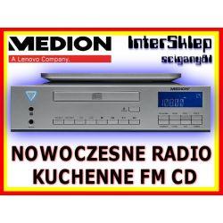 NOWOCZESNE PODWIESZANE RADIO KUCHENNE FM Z CD AUX