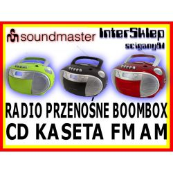 #3 BOOMBOX RADIO CD MP3 KASETA PRZENOŚNY 3 KOLORY