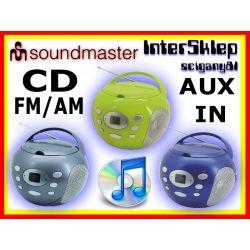 BOOMBOX RADIO PRZENOŚNE CD FM AM AUX IN 4 KOLORY