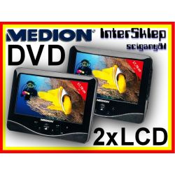 *2x LCD 7'' DVD SAMOCHODOWE DIVX USB SD 230V 12V