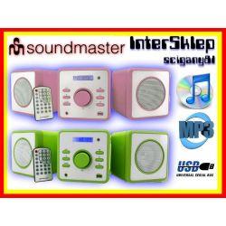 **NOWOCZESNA NIEMIECKA MINI WIEŻA CD MP3 USB RADIO