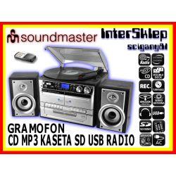 NIEMIECKA WIEŻA COMBO GRAMOFON CD KASETA SD USB FM