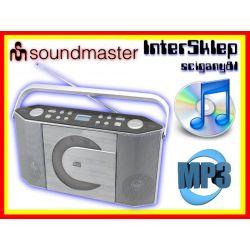 NOWOCZESNE RADIO PRZENOŚNE  Z ODTWARZACZEM CD MP3
