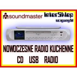 NOWOCZESNE CYFROWE RADIO KUCHENNE DAB+ FM Z CD USB