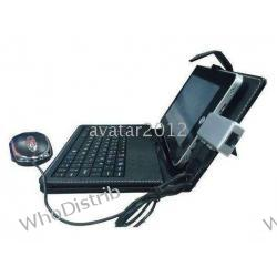 keyboard case keyboard Leather case with usb keyboard bracket for 7 inch PC Tab