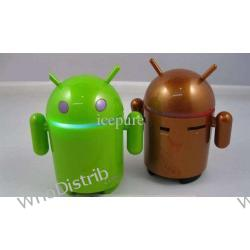 MP3 Player Cute Google Android Robot Style USB Rechargeable TF Card FM Radio Colorful Light S-205