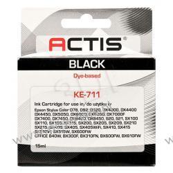 Actis tusz zamiennik do Epson T0711 D92/DX4450/DX7450 Bk KE-711  22 cale