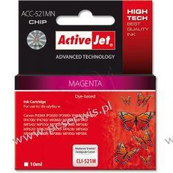 ActiveJet ACC-521M (ACC-521MN) tusz magenta do drukarki Canon (zam. CLI-521M) (CHIP)  Canon - kolor