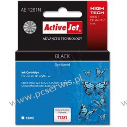 ActiveJet AE-1281N (AE-1281) tusz Black pasuje do drukarki Epson (zamiennik T1281)  Epson - czarny