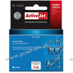 ActiveJet AE-1282N (AE-1282) tusz Cyan pasuje do drukarki Epson (zamiennik T1282)  Epson - czarny