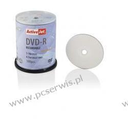 DVD-R ACTIVEJET 4,7GB DO NADRUKU 1SZT  Dyski i napędy