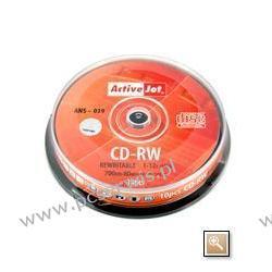 CD-RW ACTIVEJET 700MB 12X CAKE 10SZT ANS-039 licencja PHILIPS-a
