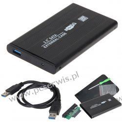OBUDOWA DYSKU HDD 2,5 ALU USB 3.0 SATA ETUI KABEL Dyski i napędy