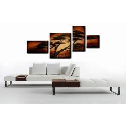 """Obraz ręcznie malowany farbami akrylowymi na płótnie - 96 - """"Samotne drzewo na wietrze"""""""