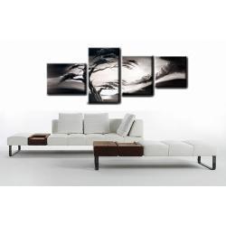 """Obraz ręcznie malowany farbami akrylowymi na płótnie - 1205 - """"Melancholia black&white"""""""