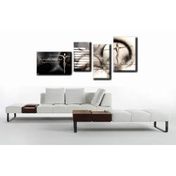 """Obraz ręcznie malowany farbami akrylowymi na płótnie - 237- """"Krzyk black&white"""""""