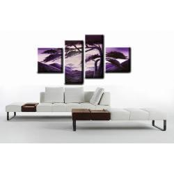 """Obraz ręcznie malowany farbami akrylowymi na płótnie - 51A - """"Fioletowy świt"""""""