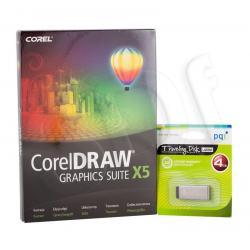 COREL DRAW Graphics Suite X5 Czech/Polish + USB 4GB...