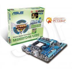 ASUS M4A88TD-M/USB3 AMD 880G Socket AM3 (PCX/VGA/DZW/GLAN/SATA3/USB3/RAID/DDR3/CROSSFIRE) mATX...