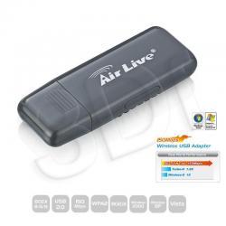 OVISLINK AirLive [ WN-200USB ] Bezprzewodowa Karta Sieciowa na USB 150Mbps 802.11n [ 1T/1R ]...
