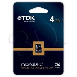TDK SECURE DIGITAL MICRO SDHC 4GB CLASS 6...